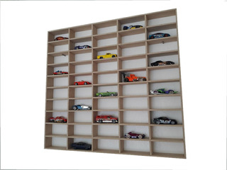 Coleccionador - Exhibidor Hot Wheels-50 Autos-mdf