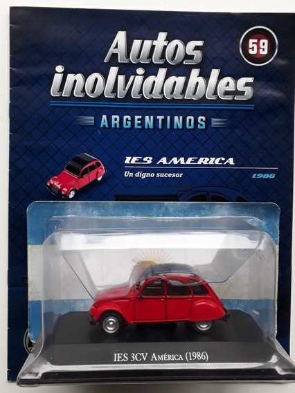 ARG59G Voiture 1//43 SALVAT Autos Inolvidables Citroen 3CV America 1986