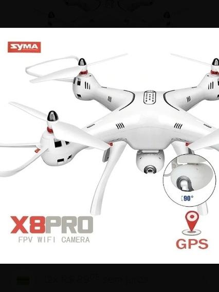 Drone Syma X8 Pro Com Gps E Câmera Hd - Imagens Ao Viv