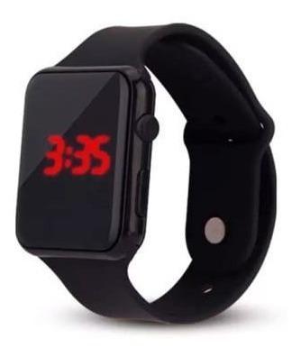 Relógio De Pulso Super Leve Digital Led Hora E Data Unissex