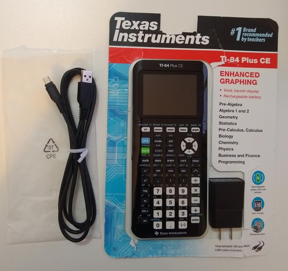 Calculadora Gráfica Texas Instruments Ti-84 Plus Ce Graphing