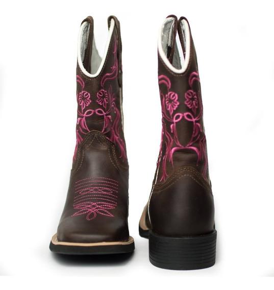 Botas Texana Rodeio Country Cano Longo 100% Couro