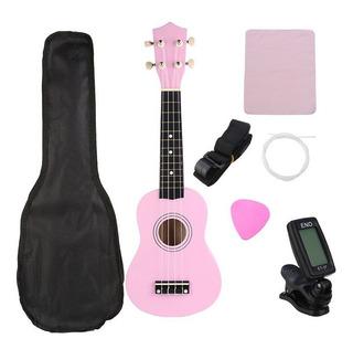 21 Pink Soprano Basswood Ukulele Uke Hawaii Bass Guitar