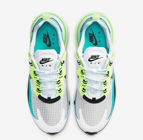 acerca de los progenie  Nike Air Max 270 React Se Oracle Aqua Blancas Verdes Negras | Mercado Libre