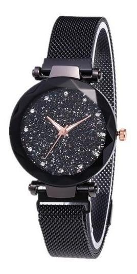 Relógio Pulseira Magnetica Feminino + Caixinha Oferta Top