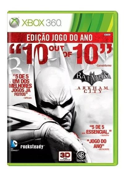 Batman Arkham City Xbox 360 Mídia