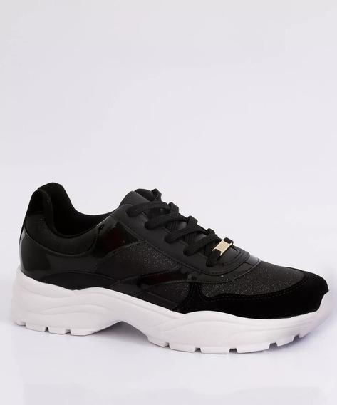 Tênis Chunky Feminino Vizzano Original Preto Sneaker