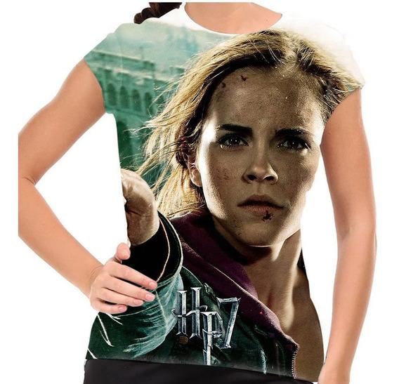 Camiseta Harry Potter Hermione Final Battle Baby Look