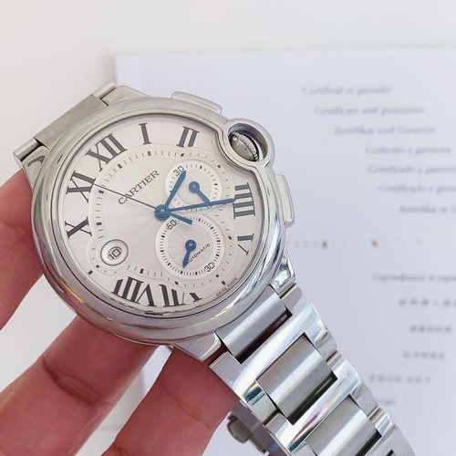 Cartier Ballon Bleu Chronograph Xl 44mm Completo Impecável