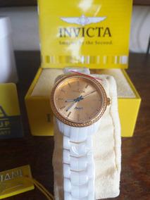 Invicta 14908 Angel Com Pulseira De Cerâmica Branco Original