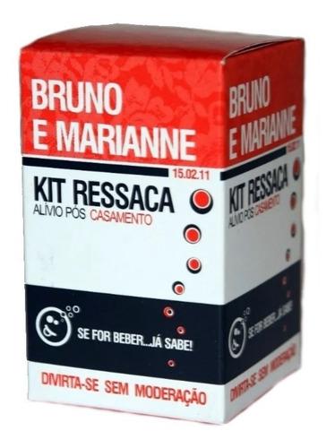 Imagem 1 de 4 de Kit Ressaca Personalizado C/ Brilho  100unidades