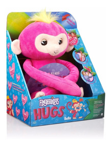 Macaco Fingerlings Hugs Bella Pelúcia Plush Interativo.