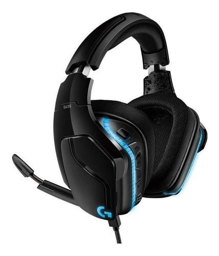 Auriculares gamer Logitech G Series G635 negro con luz  rgb LED