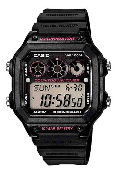 Relógio Casio Masculino Ae-1300wh-1a2vdf Preto - Refinado
