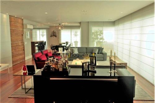 Imagem 1 de 30 de Apto Com 4 Dormitórios -suítes, Decorado E Mobiliado, À Venda, 385 M² Por R$ 7.000.000 - Campo Belo - São Paulo/sp - Ap14022