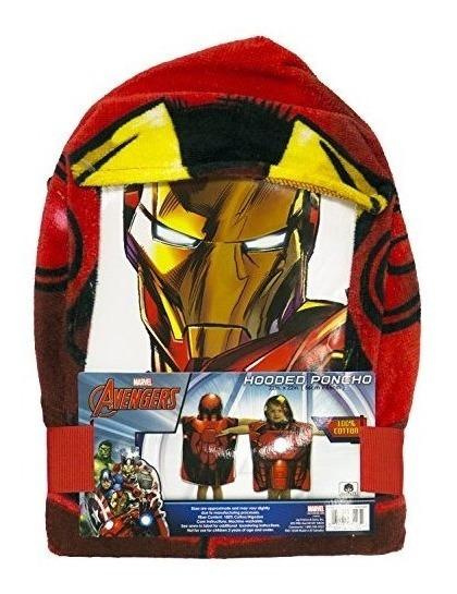 Marvel Los Vengadores Ironman Poncho Con Capucha
