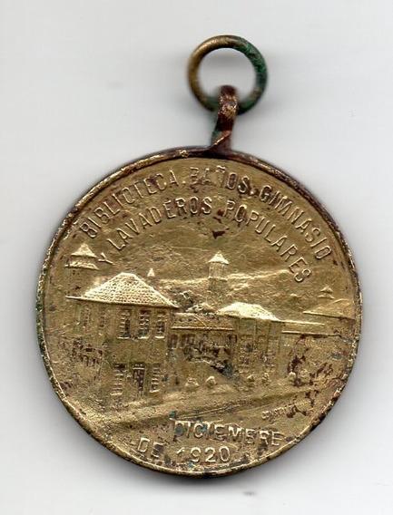 Medalla Biblioteca, Baños Y Lavaderos Populares - 1922