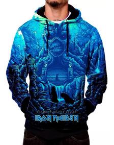 Blusa Sintética Iron Maiden Heavy Metal Dark Capuz Rock Evil