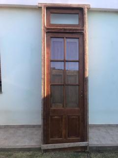 Puerta Antigua 1 Hoja Cedro Restaurada