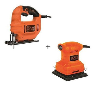 Kit Sierra Caladora 420w Black&decker + Lijadora Ks501+bs200