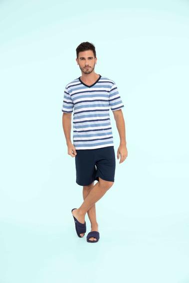 Pijama Masculino Adulto Navy - Ref. 13126