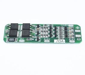 Proteção Bms 3s 12,6v Para 3x Baterias Lítio Pcb Bm 20a