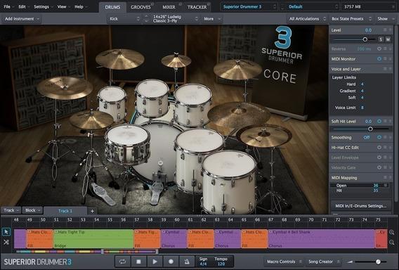 Superior Drummer 3 + Sdx Core Basic Sound + 5 Kits Sdx