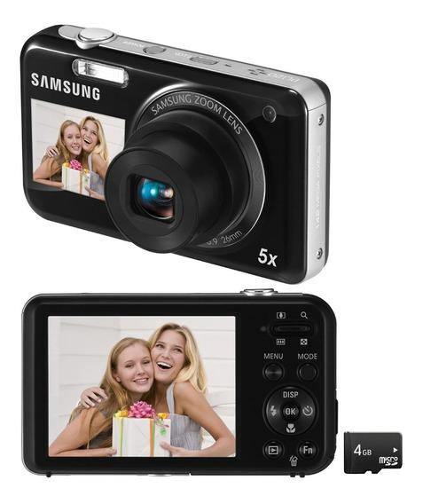 Câmera Digital Samsung Pl120 Com Visor Frontal Para Selfie