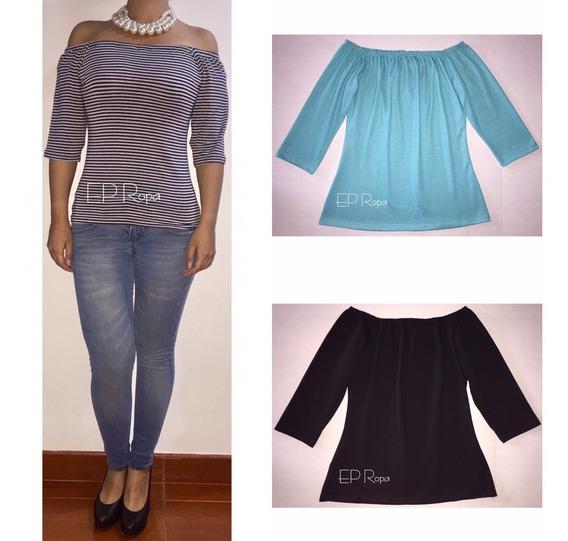Blusa Larga Campesina Hombros Moda Para Mujer Envío Gratis