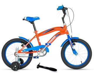 Bicicleta Cross Top Mega Rodado 16 Varon + Rueditas + Envio