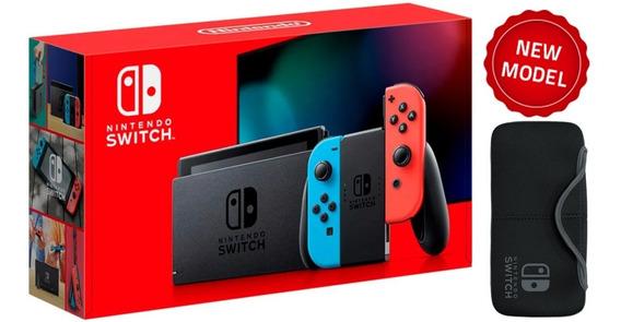 Nintendo Switch Neón Blue And Red + Estuche. Nueva Y Sellada
