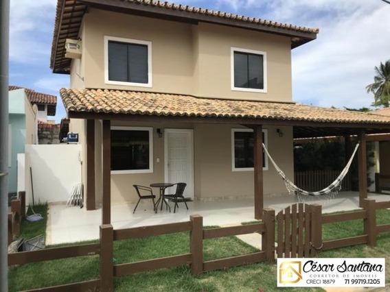 Casa 4/4 Em Condomínio Fechado - Buraquinho - Lauro De Freitas - Ca00472 - 34006248