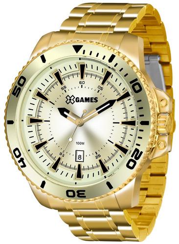 Relógio Xgames Masculino Xmgs1024 C2kx Dourado Grande
