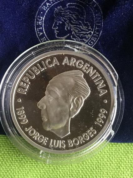 Argentina : 1 Peso De Plata Jorge Luis Borges 1899 - 1999