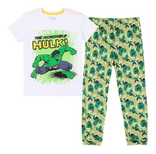 Pijama Dos Piezas Camiseta Y Pantalon Niño Verde Marvel
