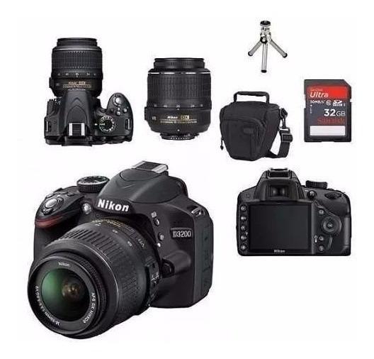 Nikon 3200 + 18 55 + 18 105mm + 50mm + 2 Baterias + 32gb