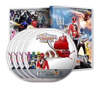 Dvds Power Rangers Super Megaforce Série Completa