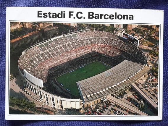 Postal Del Estadio Del Club Barcelona De España Nou Camp