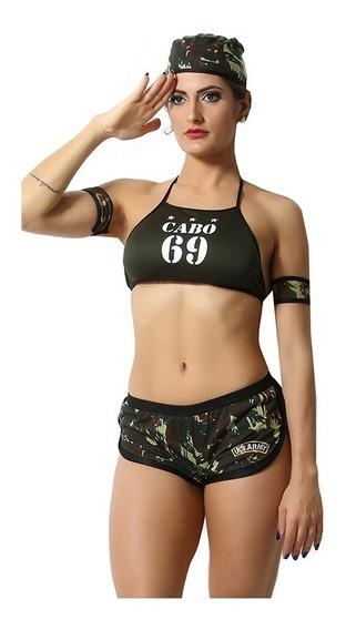 Fantasia Sensual Cabo 69 Sexy Tentação + Brinde Promoção