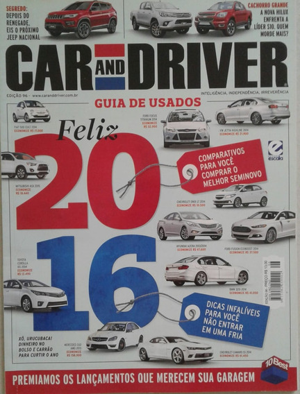 Revista Car And Driver Edição 96 Guia De Usados Feliz 2016