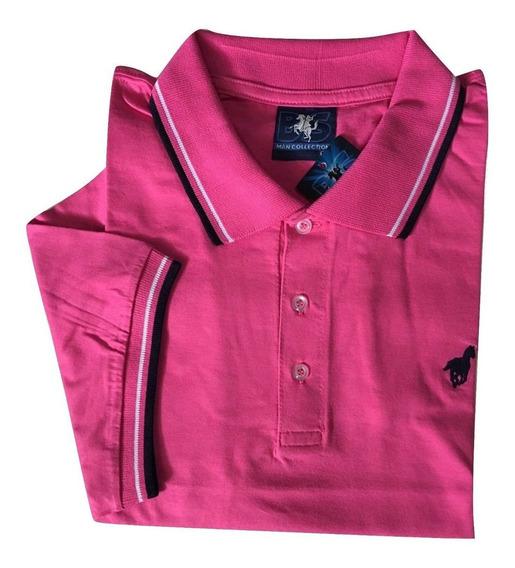 Camisa Polo Lisa Sem Bolso Tamanhos Grandes Plus Size 531