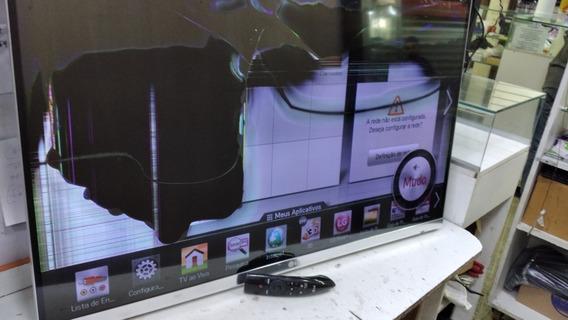 Tv LG 42lm6700-sa Tela Quebrada Com Controle Remoto