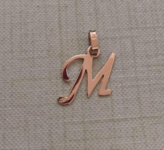 Inicial Letra M Oro Macizo 10k