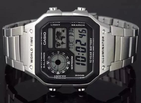 Relógio Casio Ae-1200whd Aço Cromado (3299)