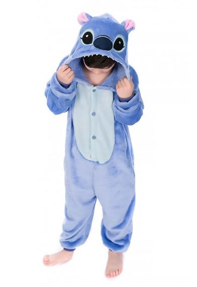 Pijama Kigurumi Stitch Infantil Nene Nena Niño Importado