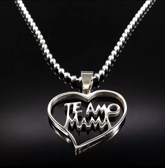 Dije Te Amo Mama Regalo De Amor Acero Inoxidable Dama Mujer