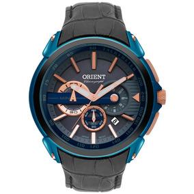 Relogio Masculino Orient Mtscc028 G1gx - Couro Azul