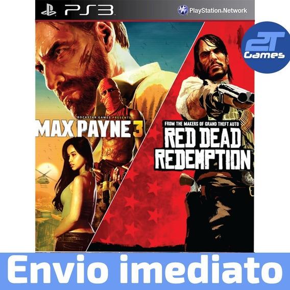 Max Payne 3 + Red Dead Redemption Ps3 Psn Pronta Entrega