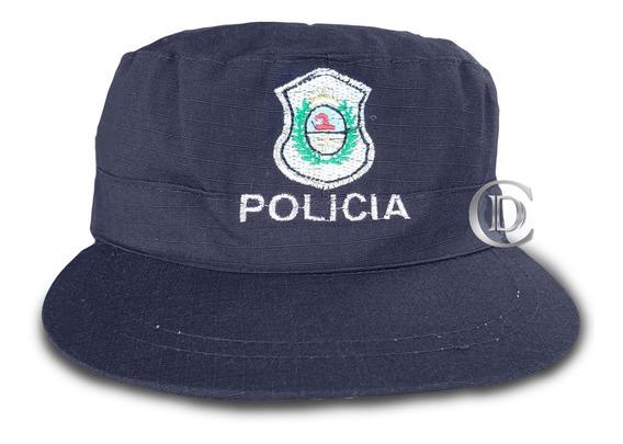 Kepi Quepi Ripstop Negro Policía De Buenos Aires Plateado