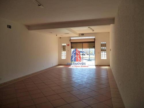 Salão Para Alugar, 90 M² Por R$ 1.300,00/mês - Parque Novo Mundo - Americana/sp - Sl0167